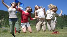 Participants in Shambhala Sun Camp celebrate